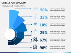 Circle Split Diagram PPT slide 4