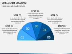 Circle Split Diagram PPT slide 6