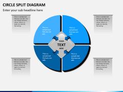 Circle Split Diagram PPT slide 8