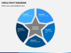 Circle Split Diagram PPT slide 9
