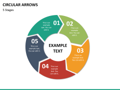 Circular arrows PPT slide 40