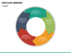 Circular arrows PPT slide 41