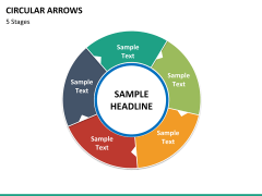 Circular arrows PPT slide 42