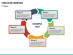 Circular arrows PPT slide 44