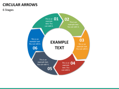 Circular arrows PPT slide 46