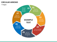 Circular arrows PPT slide 50