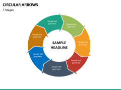 Circular arrows PPT slide 51