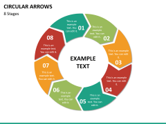 Circular arrows PPT slide 53
