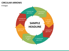 Circular arrows PPT slide 54