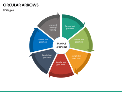 Circular arrows PPT slide 55