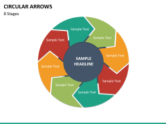 Circular arrows PPT slide 56