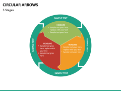 Circular arrows PPT slide 32