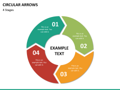 Circular arrows PPT slide 37