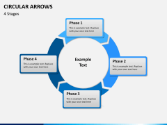 Circular arrows PPT slide 10