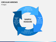 Circular arrows PPT slide 11