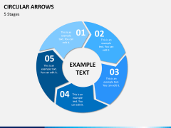 Circular arrows PPT slide 12