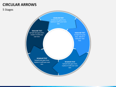 Circular arrows PPT slide 13