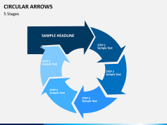Circular arrows PPT slide 15