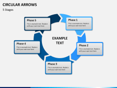 Circular arrows PPT slide 16