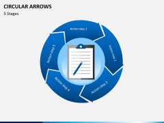 Circular arrows PPT slide 17