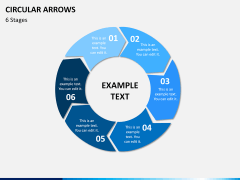 Circular arrows PPT slide 18
