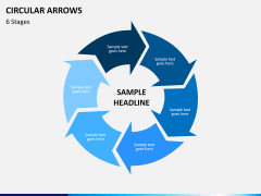 Circular arrows PPT slide 21