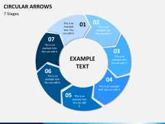 Circular arrows PPT slide 22