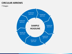 Circular arrows PPT slide 23