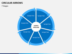 Circular arrows PPT slide 24