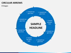Circular arrows PPT slide 26