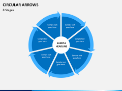 Circular arrows PPT slide 27