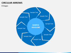 Circular arrows PPT slide 28