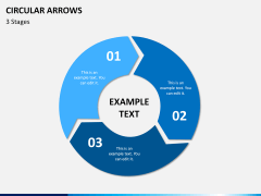 Circular arrows PPT slide 3