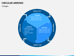 Circular arrows PPT slide 4