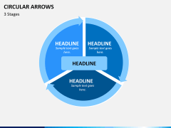 Circular arrows PPT slide 5