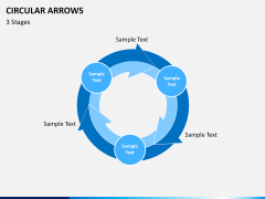 Circular arrows PPT slide 6