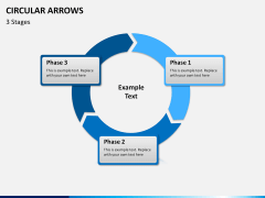Circular arrows PPT slide 8