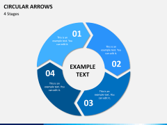 Circular arrows PPT slide 9