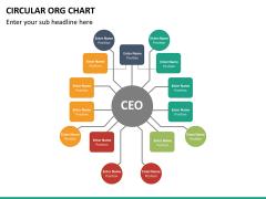 Circular ORG chart PPT slide 24