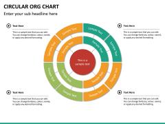 Circular ORG chart PPT slide 16