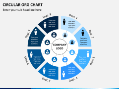 Circular ORG chart PPT slide 10