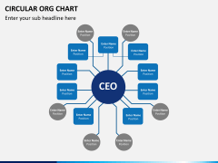Circular ORG chart PPT slide 11