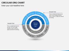 Circular ORG chart PPT slide 4