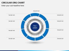 Circular ORG chart PPT slide 5