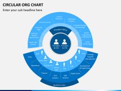 Circular ORG chart PPT slide 9