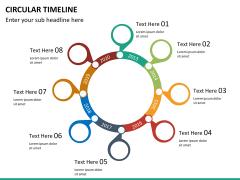 Circular Timeline PPT slide 16