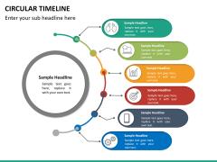 Circular Timeline PPT slide 25