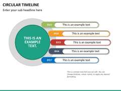 Circular Timeline PPT slide 27