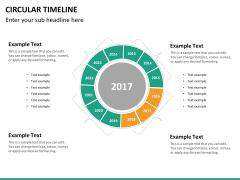 Circular Timeline PPT slide 29
