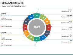 Circular Timeline PPT slide 30